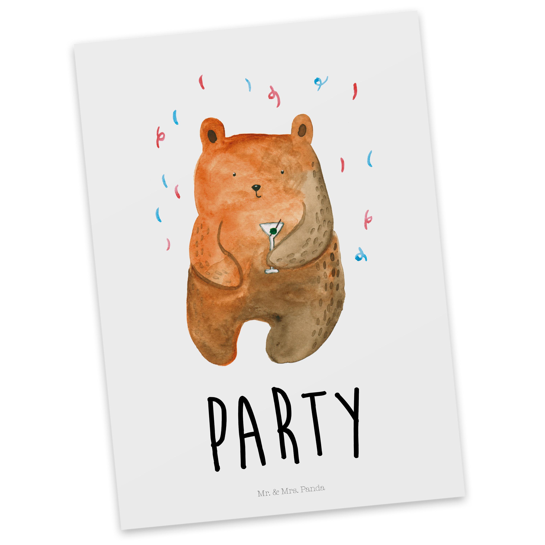 Postkarte Party - Bär aus Karton 300 Gramm