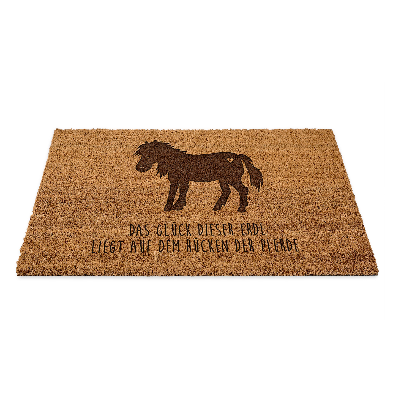 Fußmatte Pony aus Fussmatte Kokos