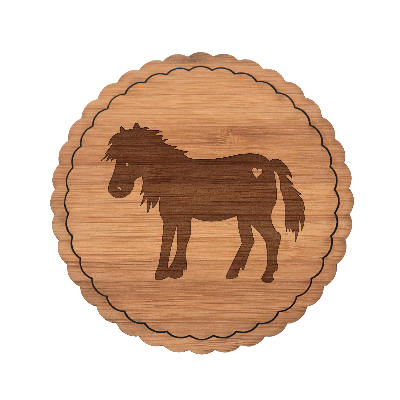 Untersetzer Rundwelle Pony aus Bambus