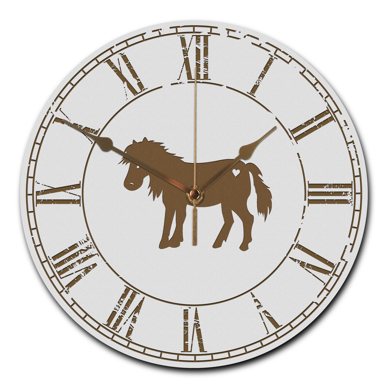 Wanduhr rund Pony aus MDF
