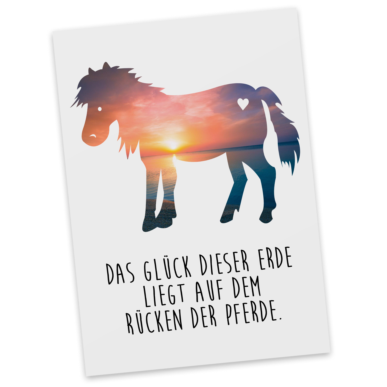 Postkarte Pony aus Karton 300 Gramm