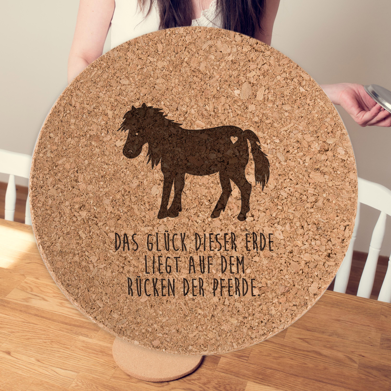 Untersetzer Kork Rund Pony aus Kork