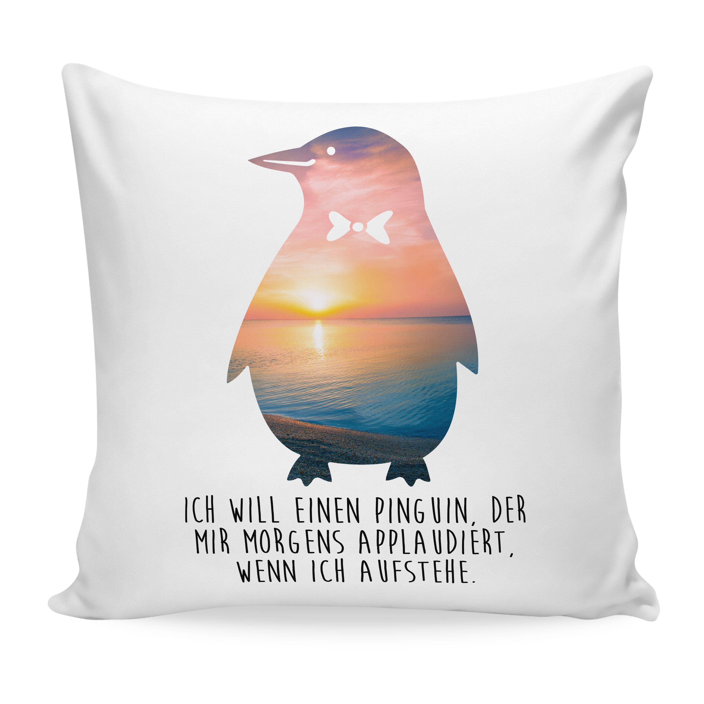 Kissen 40x40 Pinguin aus Soft-Feel Kissenbezug
