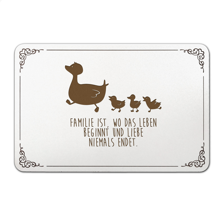 Türschild Enten Familie aus MDF