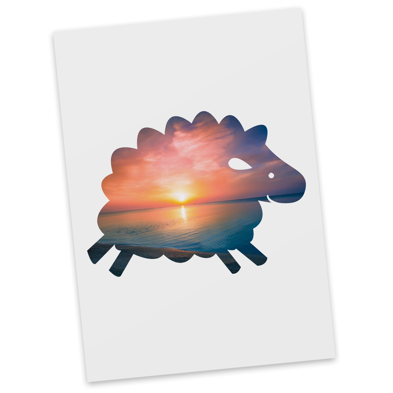 Postkarte Schaf aus Karton 300 Gramm