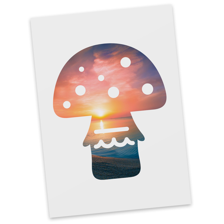 Postkarte Pilz aus Karton 300 Gramm