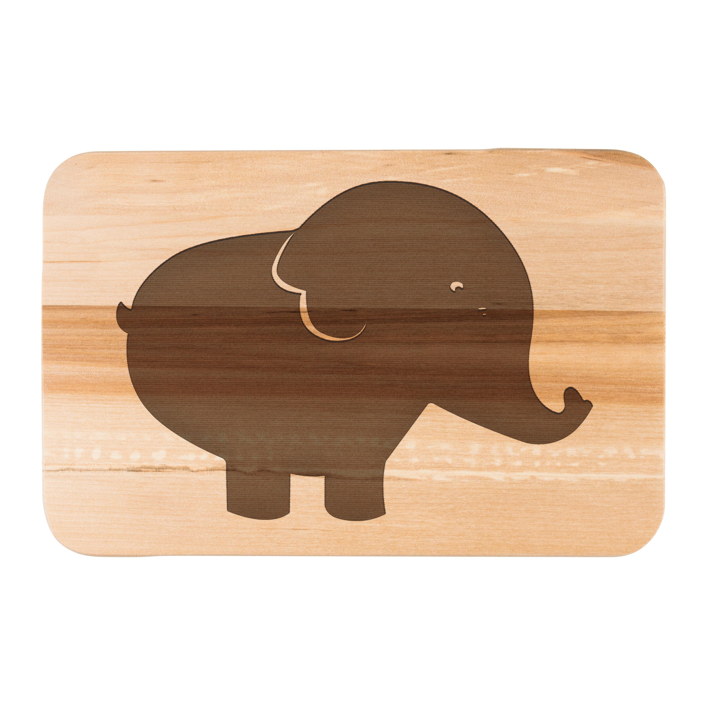 Frühstücksbrett Elefant aus Birkenholz