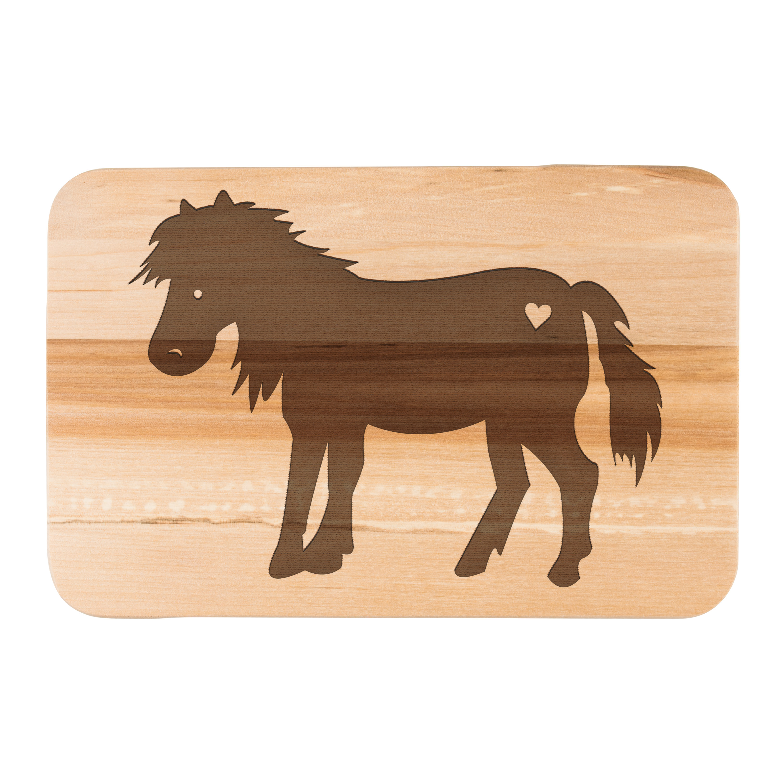 Frühstücksbrett Pony aus Birkenholz