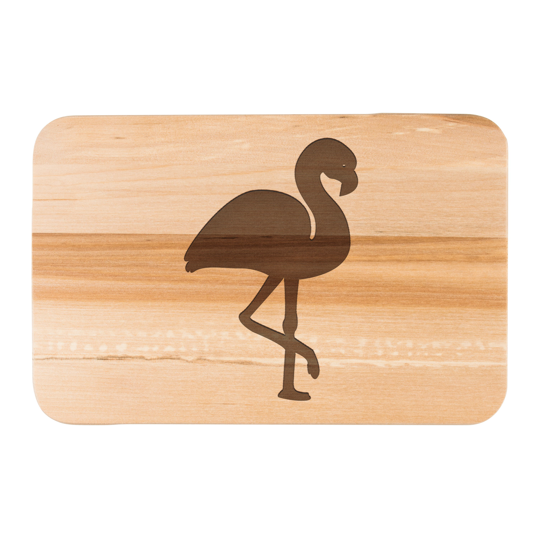 Frühstücksbrett Flamingo aus Birkenholz