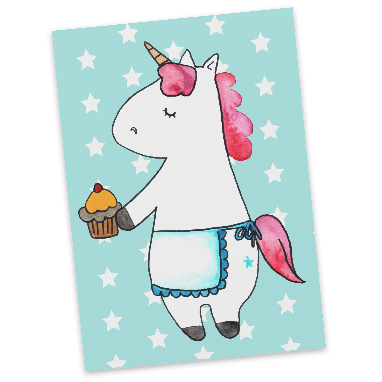 Postkarte Einhorn Muffin aus Karton 300 Gramm