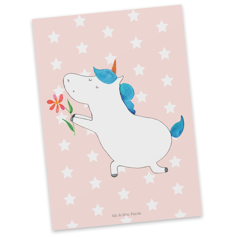 Postkarte Einhorn Blume aus Karton 300 Gramm