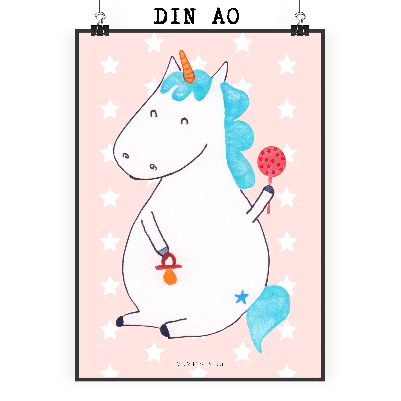 Poster DIN A0 Einhorn Baby aus Papier 160 Gramm