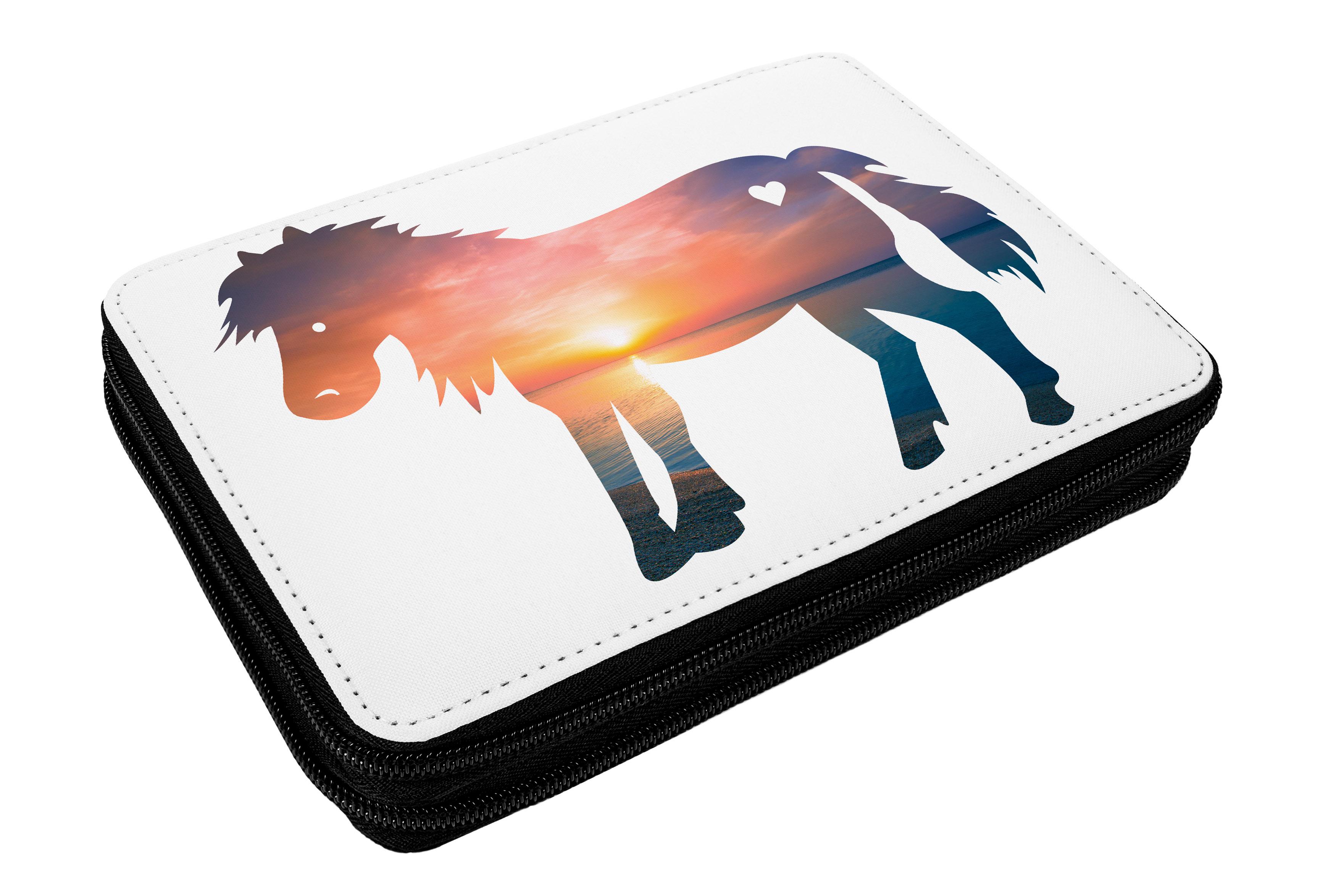Federmappe Pony aus Kunstfaser