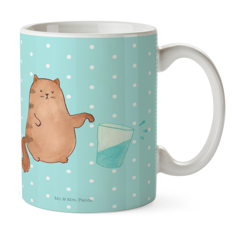 Tasse Katze Wasserglas aus Keramik