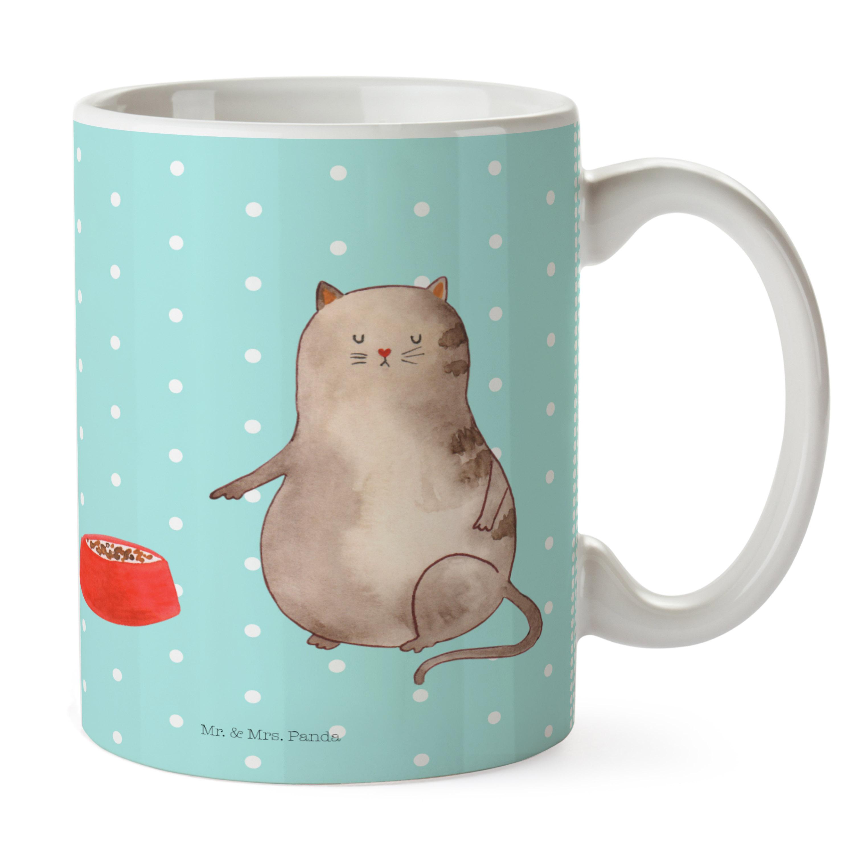 Tasse Katze Napf aus Keramik