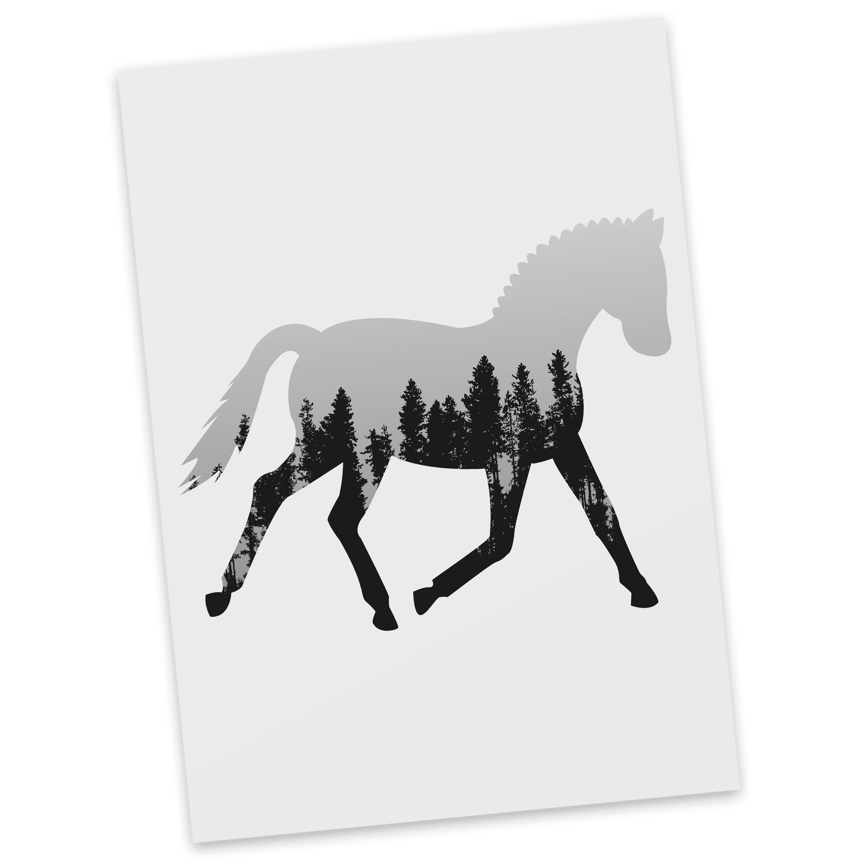 Postkarte Dressurpferd aus Karton 300 Gramm