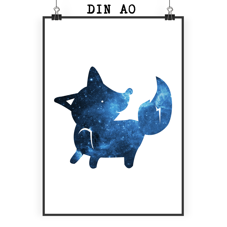 Poster DIN A0 Fuchs stehend aus Papier 160 Gramm