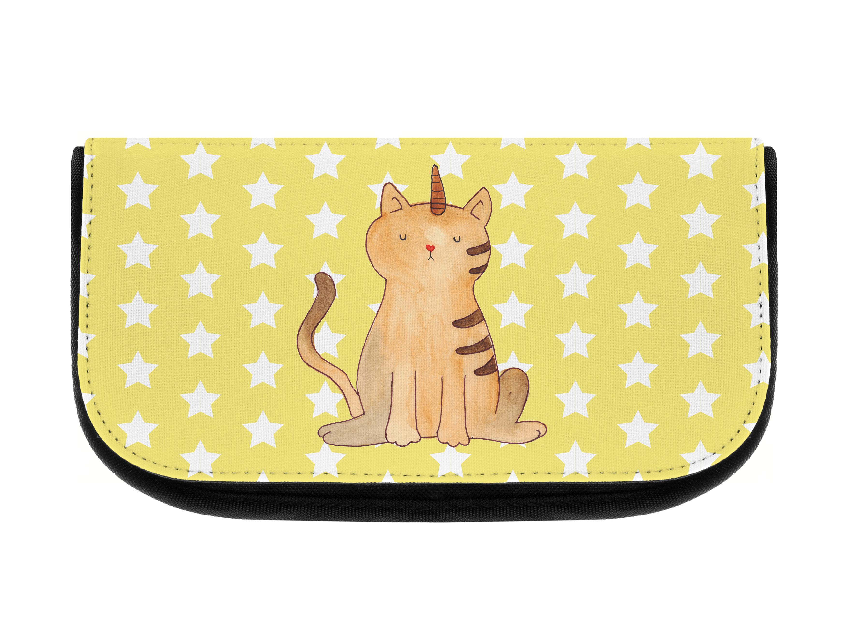 Kosmetiktasche Einhorn Katze aus Kunstfaser