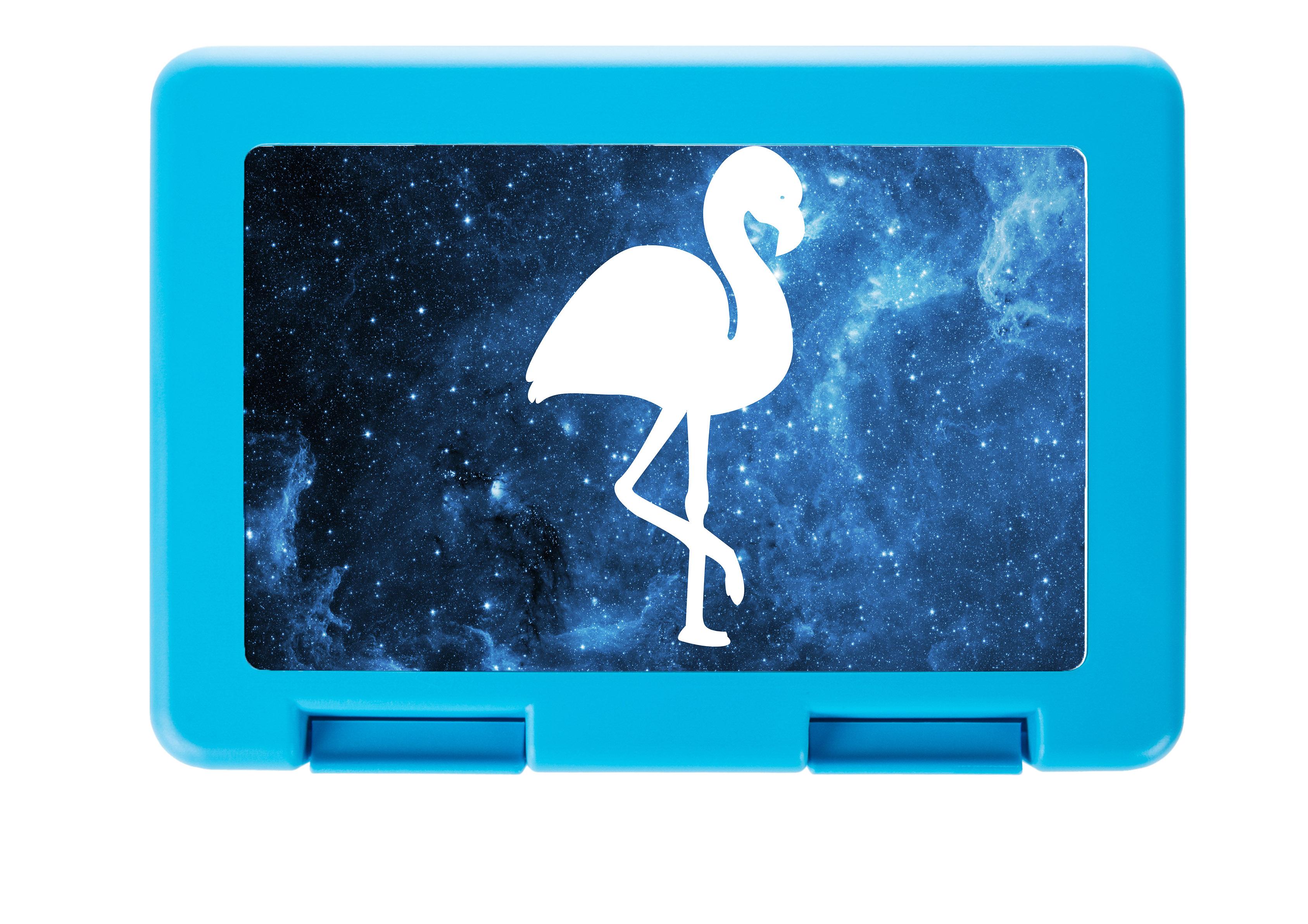 Brotdose Flamingo aus Premium Kunststoff