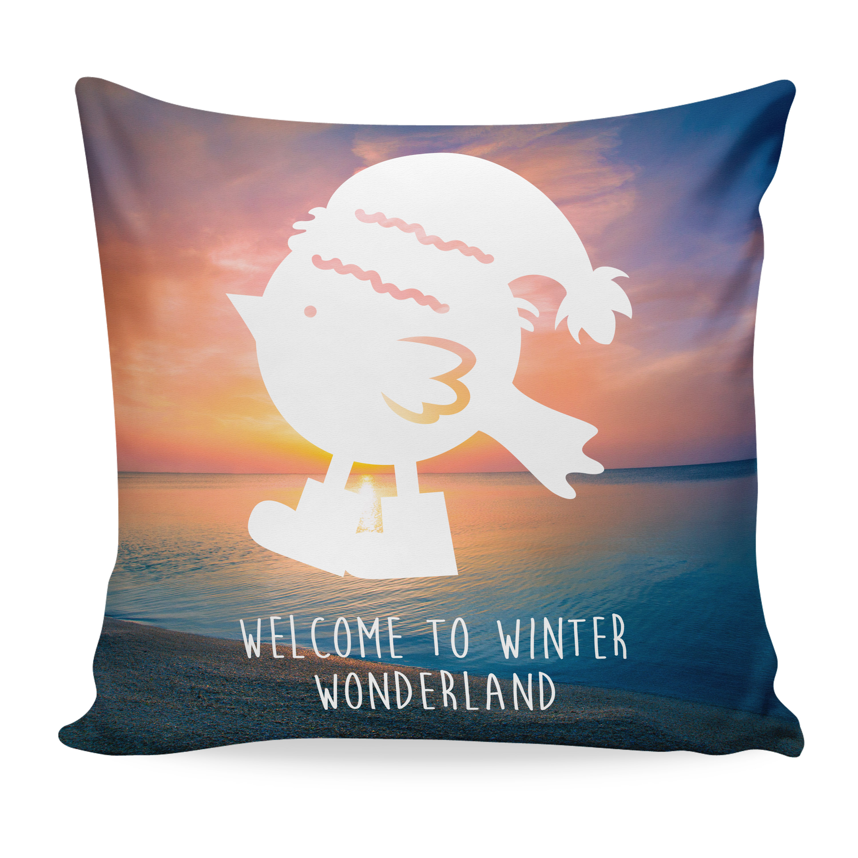 Kissen 40x40 Weihnachtspinguin aus Soft-Feel Ki...