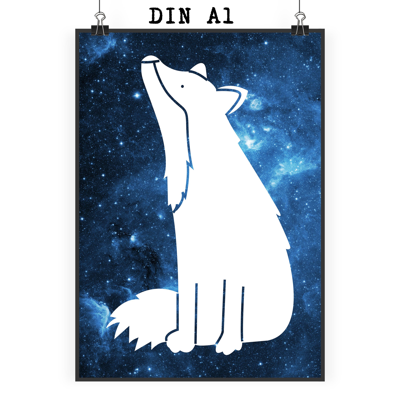 Poster DIN A1 Fuchs Sterngucker aus Papier 160 ...