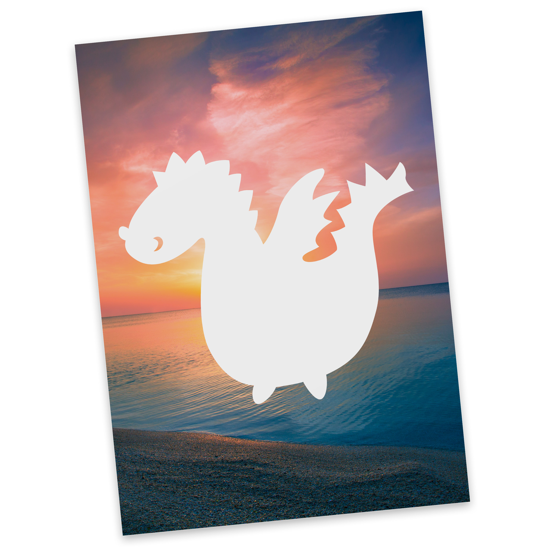 Postkarte Drache aus Karton 300 Gramm