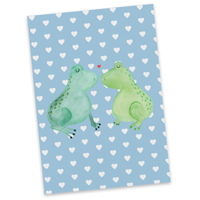 Postkarte Frosch Liebe aus Karton 300 Gramm