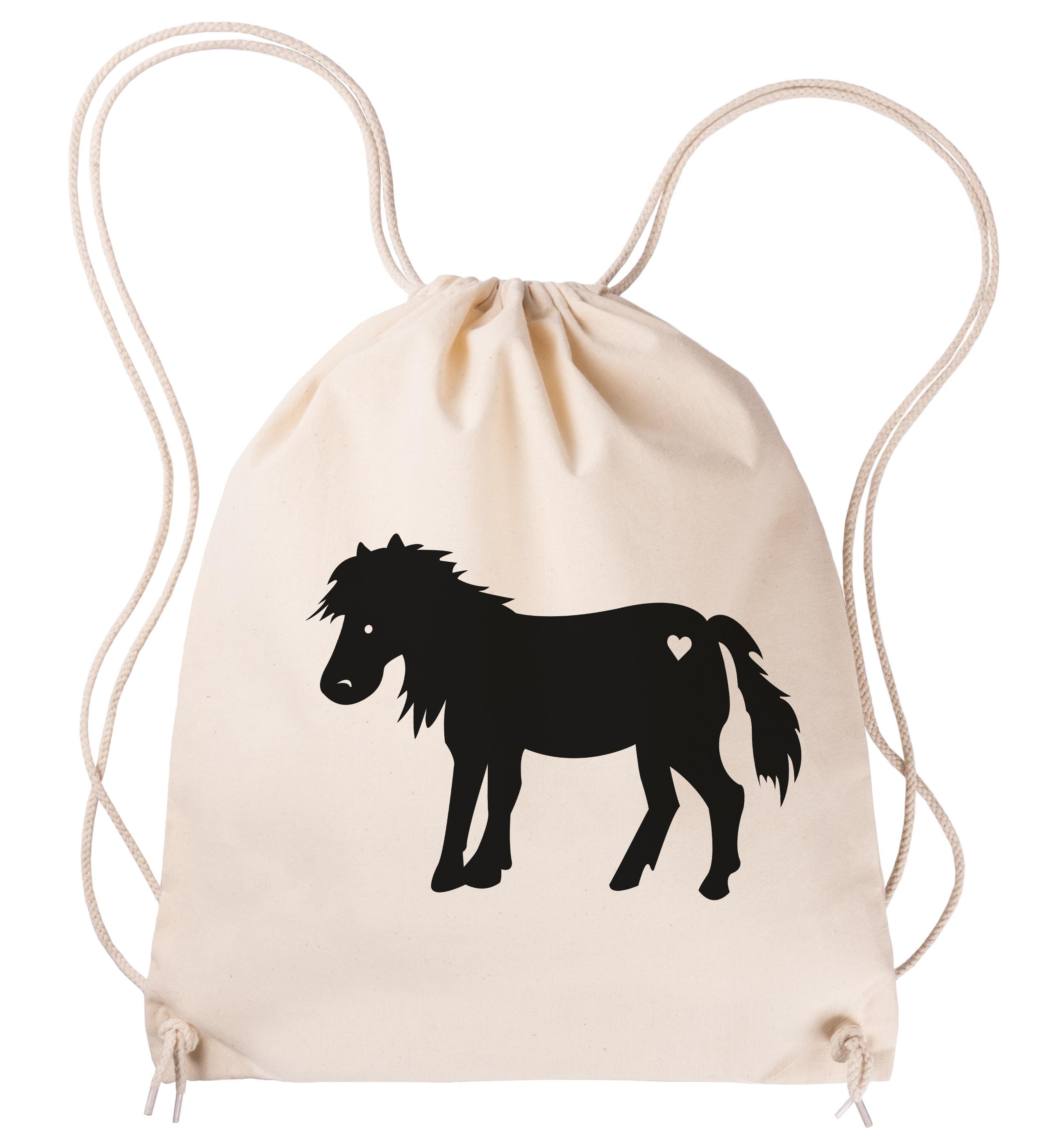 Sportbeutel Pony aus Baumwolle