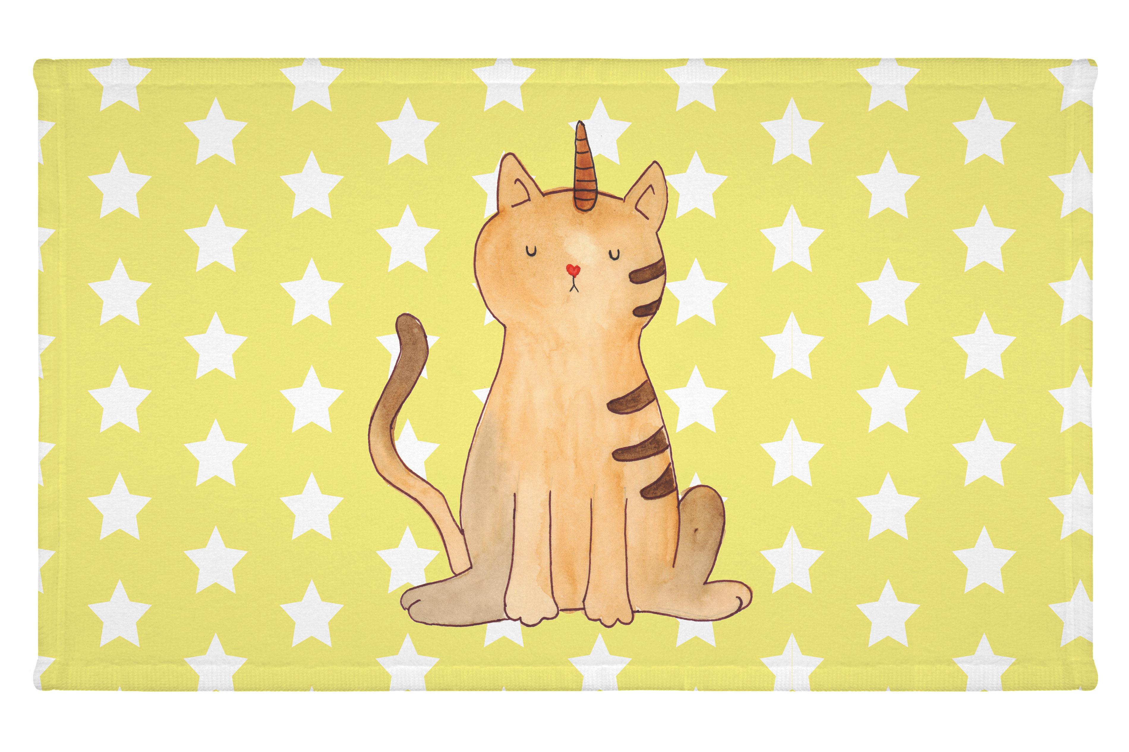 Gäste Handtuch Einhorn Katze aus Kunstfaser