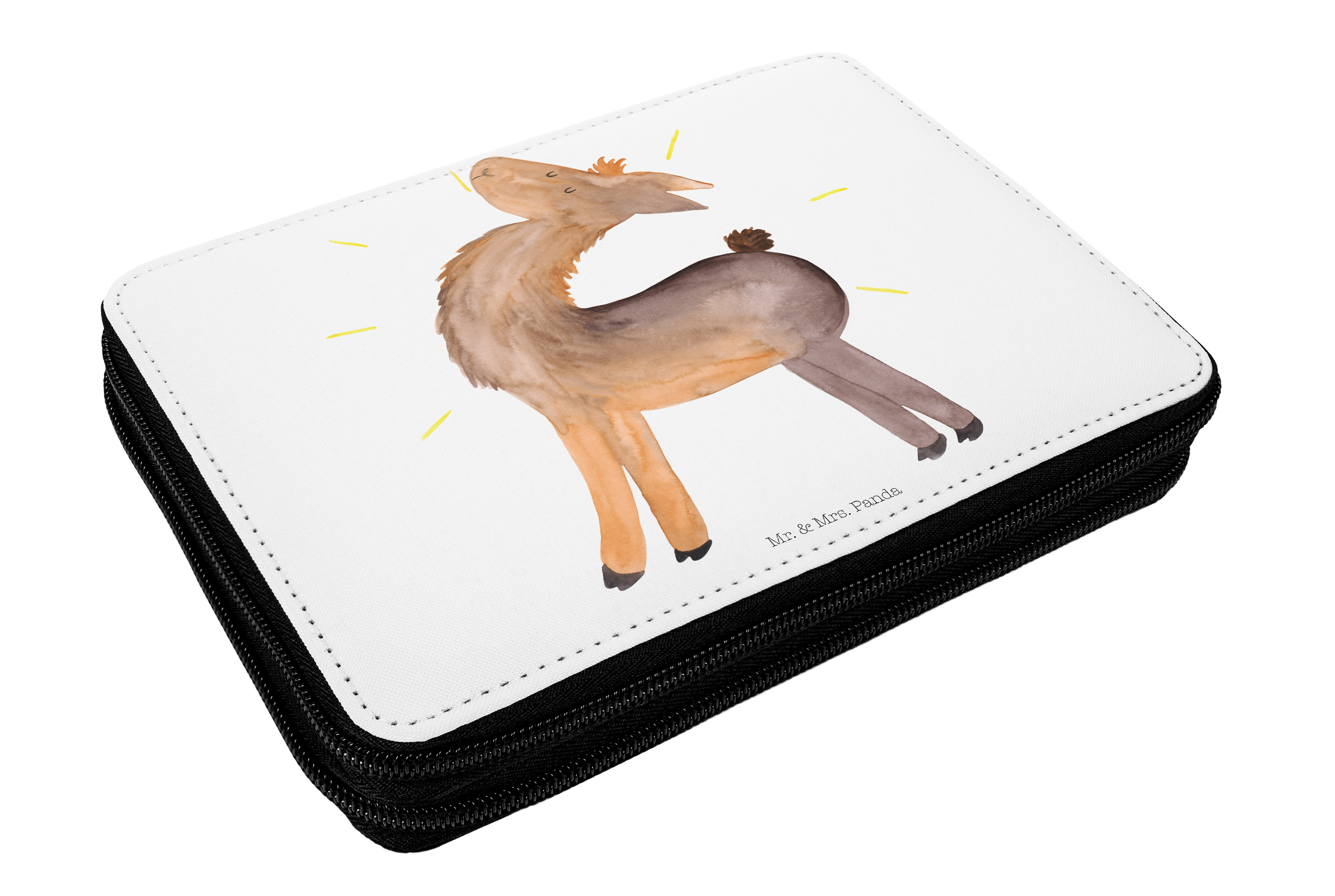Federmappe Lama stolz aus Kunstfaser
