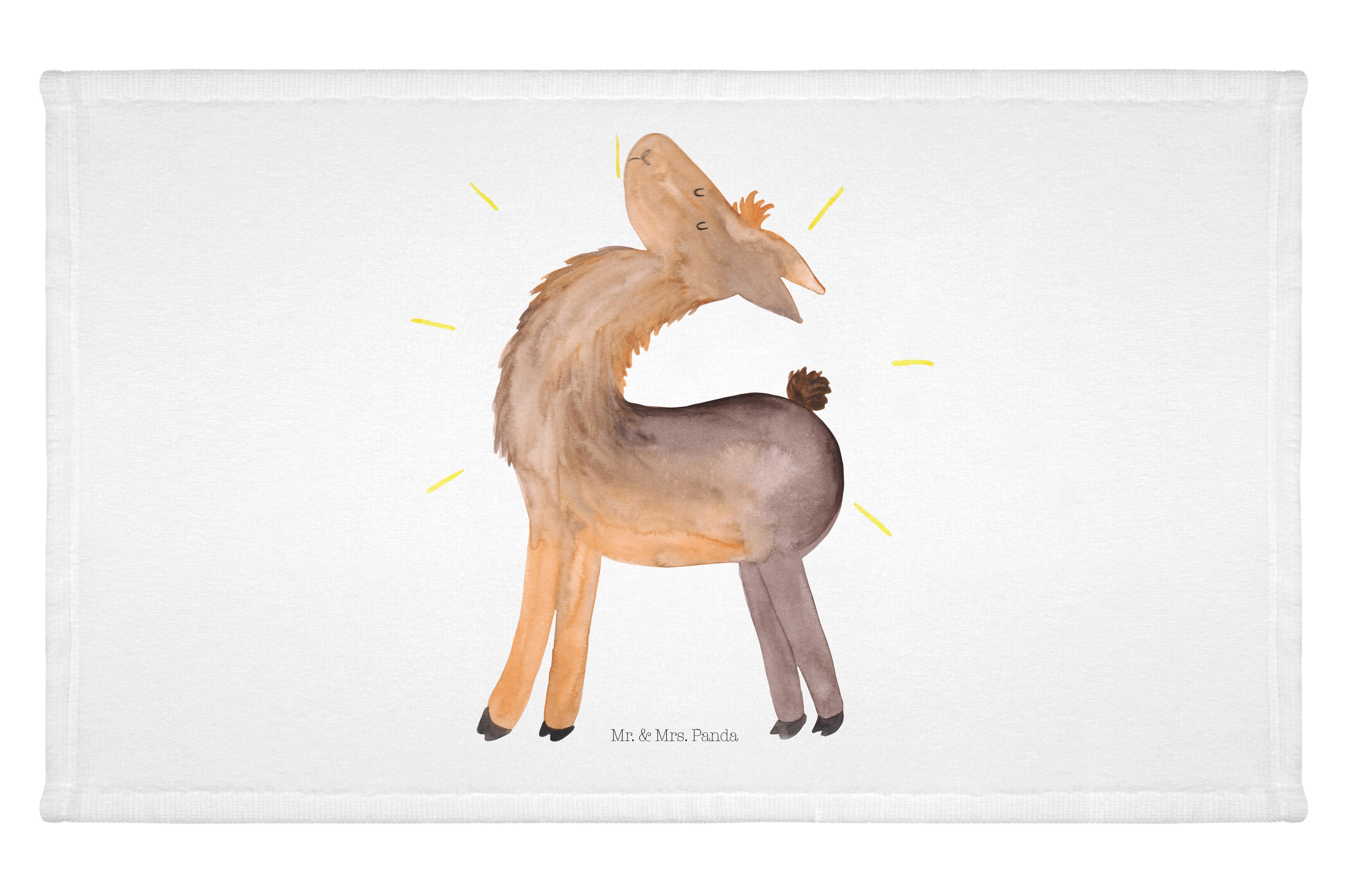 Gäste Handtuch Lama stolz aus Kunstfaser