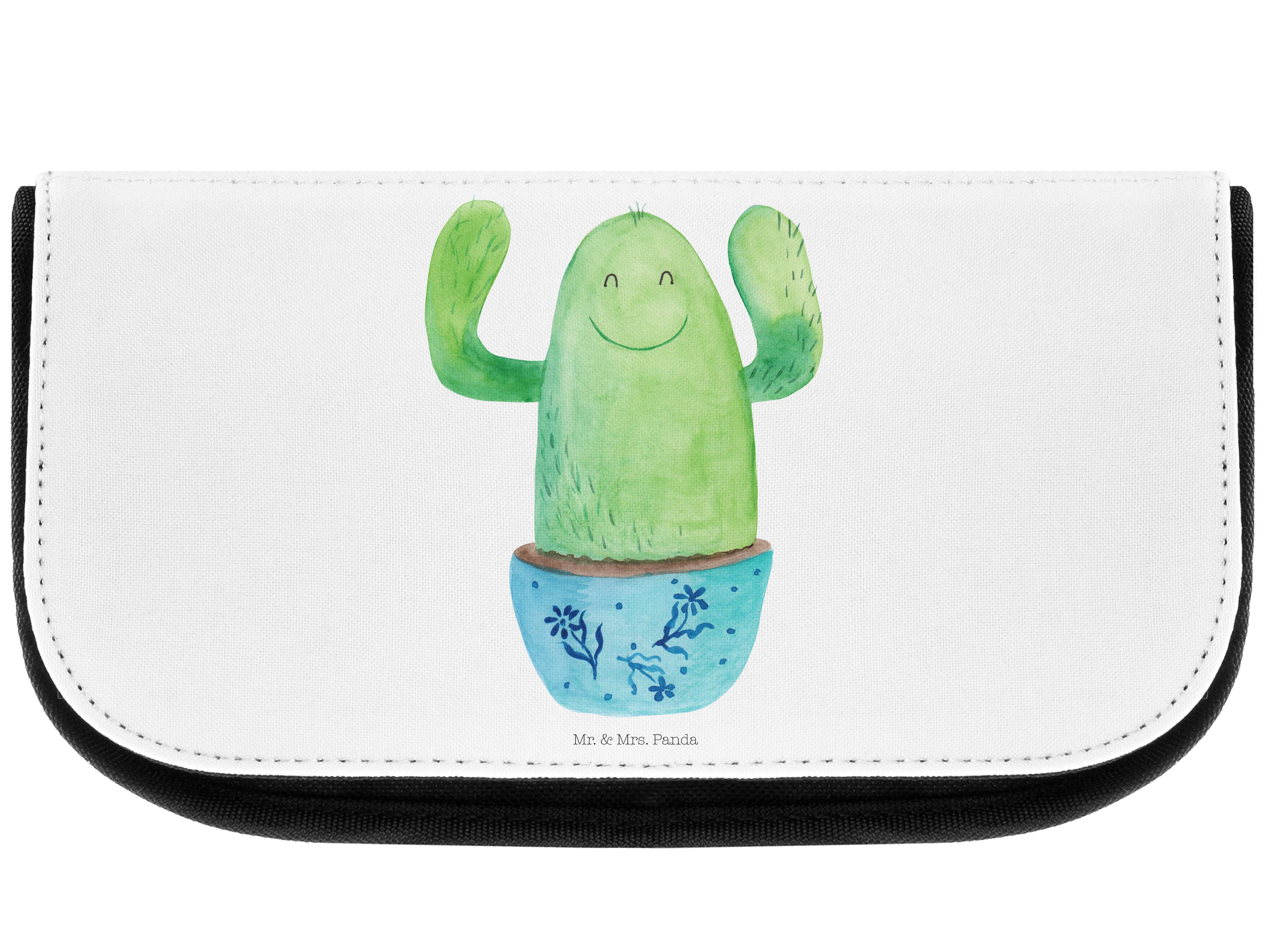 Kosmetiktasche Kaktus Happy aus Kunstfaser