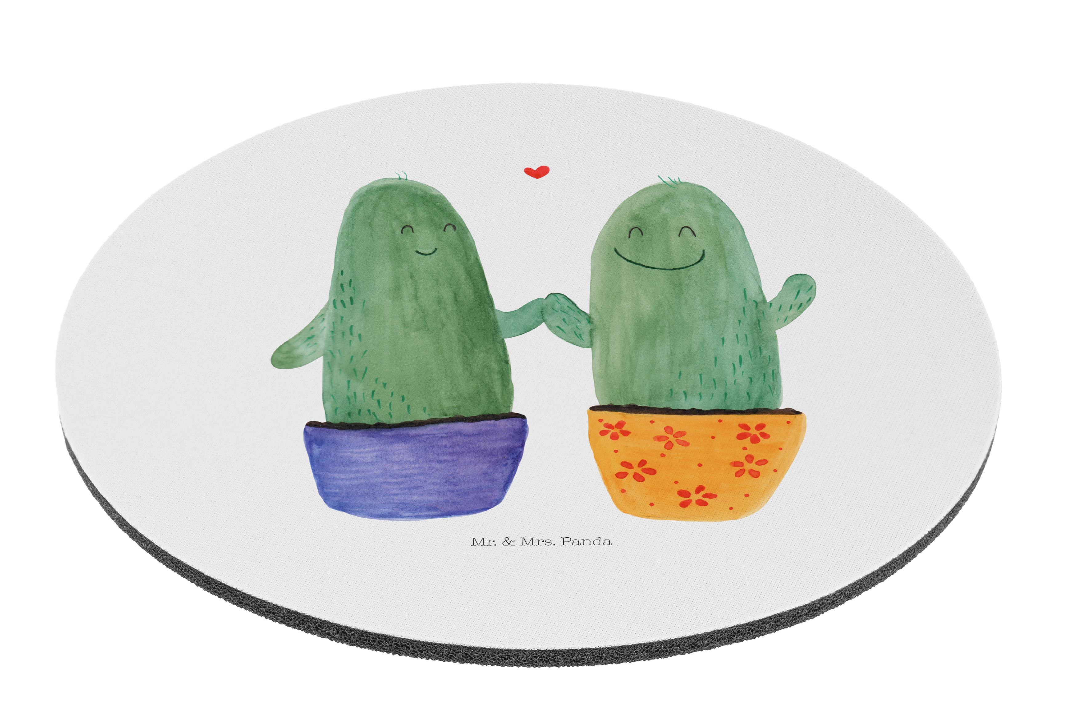 Mauspad rund Kaktus Liebe aus Naturkautschuk