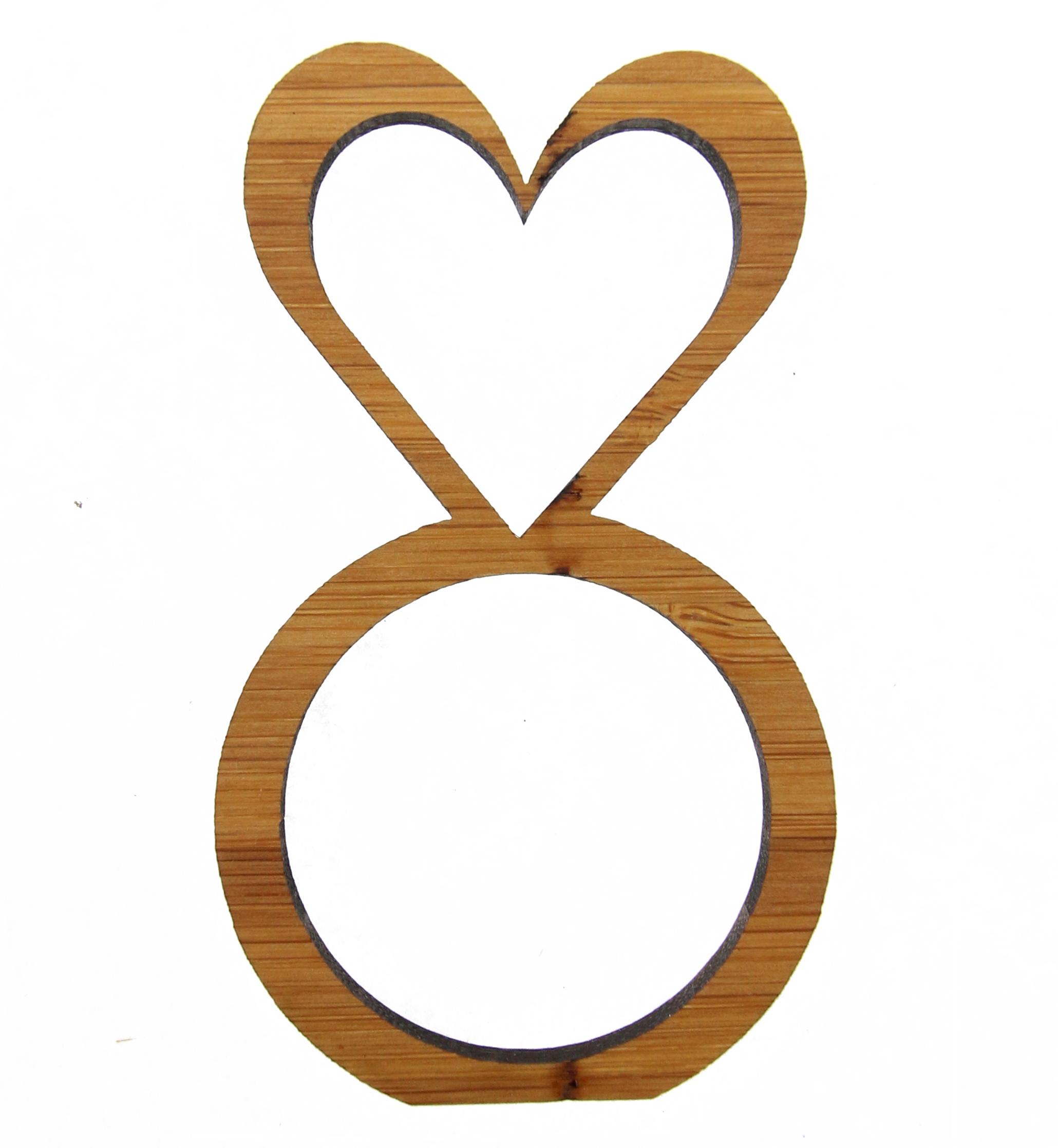 Serviettenring Herz aus Bambus