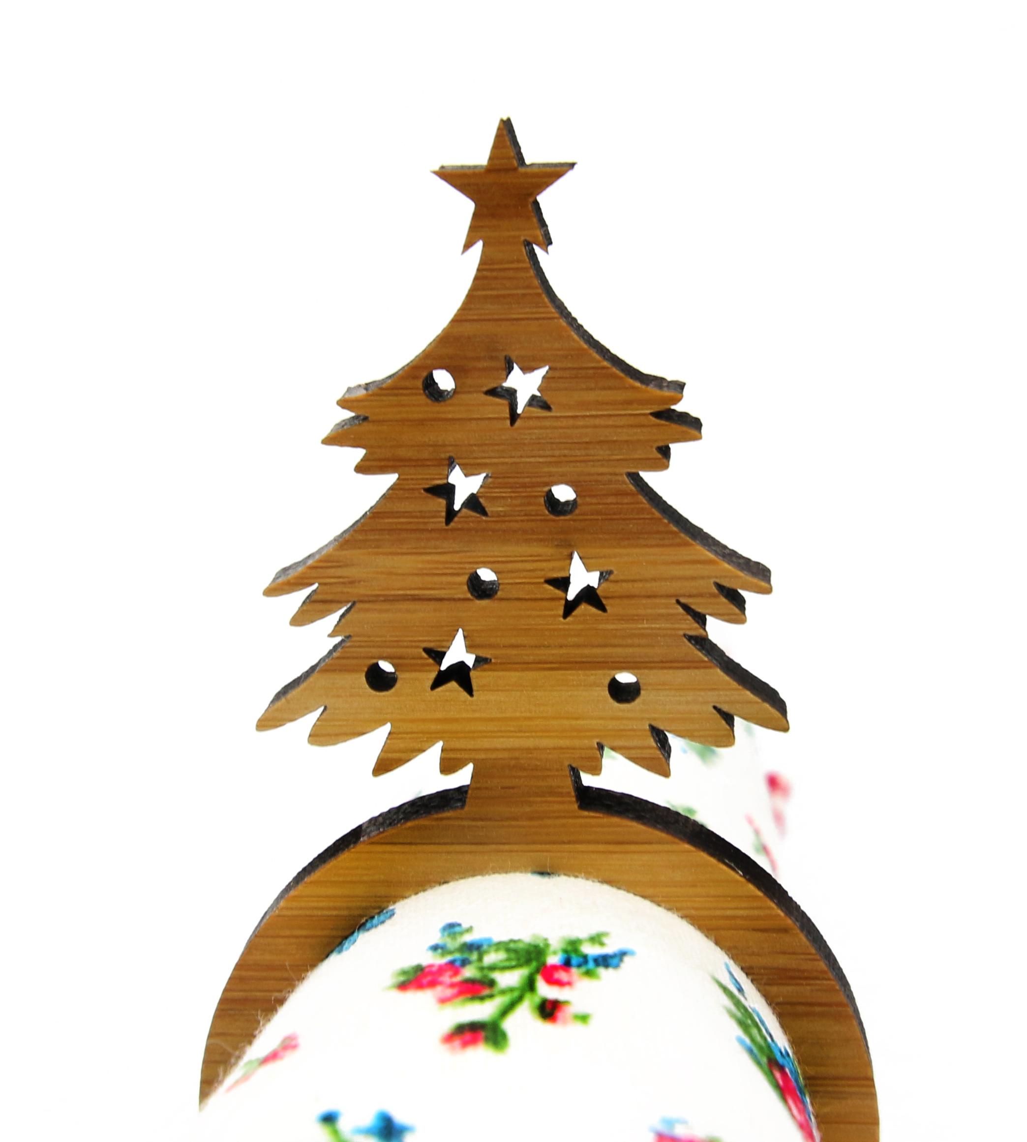 Serviettenring Weihnachtsbaum aus Bambus